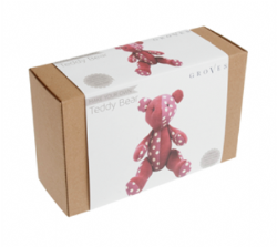 Make Your Own Teddy Bear Kit - Pink - Groves - Finished Size 21.5cm x 15cm